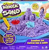 Kinetic Sand, Sandbox Playset with 1lb of Purple and 3 Molds, for Ages 3 and up