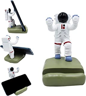 Fun Phone Stand Holder for Desk Creative Astronaut Cell Phone Holder Mount Dock for Smartphones Tablets