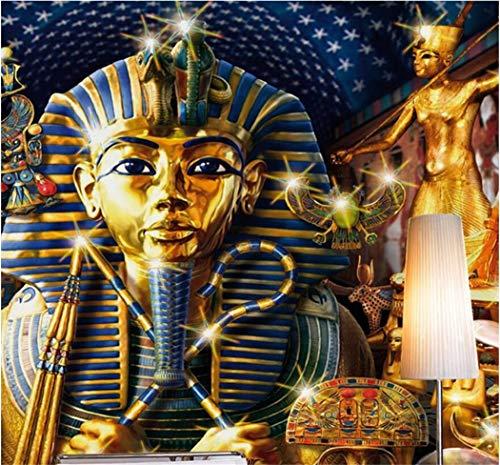 Tapete Fototapete Hintergrund-Tapeten 3D Tapeten Altes Ägypten Pharao Religion Tapete Wandbild Für Wohnzimmer Sofa Hintergrund 3D Foto Wandbild Wandaufkleber Kunst Aufkleber, 200 * 140 Cm