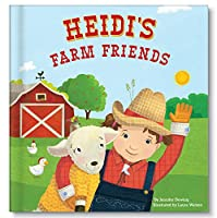 Baby Farm Animals Book for Toddler, Kids, Personalized Book for Boys Girls
