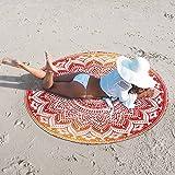 NANDNANDINI TEXTILE -Tafetán Mandala India Mandala de Playa Redonda Toalla de Playa Boho Gypsy Algodón Toalla de Playa