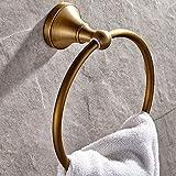 Weare Home Percha de toalla de latón macizo antiguo decorativo de simplicidad...