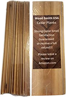 Wood Smith USA Cedar Wood Panels|Drawer Liners|Clothing Storage|Moth Protection|Natural|Non Toxic|Let Nature Do The Job! 10 Pack