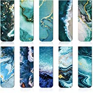Magnetic Bookmarks Magnet Page Markers Assorted Book Markers Durable Magnetic Page Clip for Students Teachers Reading, Multi Ocean Patterns (10 Pieces)