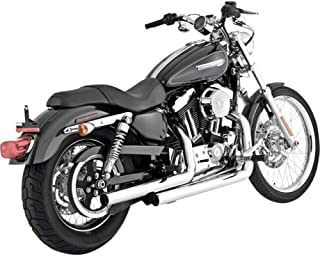 Vance and Hines Straightshots HS Chrome Full System Exhaust for Harley Davidson - One Size