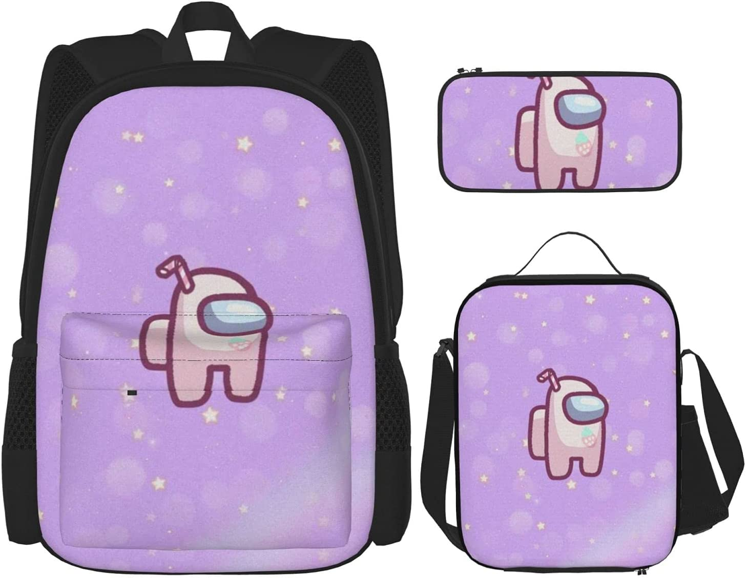 Among Game Us Unisex Backpack 3piece Pen Lunch Bag Phoenix Mall OFFicial shop