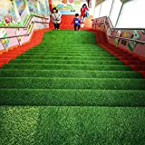 Realista Sintético Césped Artificial,Thick Fake Faux Grass Hierba Artificial Sintética Alfombra,Perfecto Para Interiores Exteriores Jardín Paisaje Altura De Pila 35mm 2x5m(6.6x16ft)