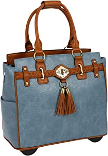 The Rodeo Blue Rolling Compatible with Computer iPad Tablet or Laptop Tote Carryall Bag