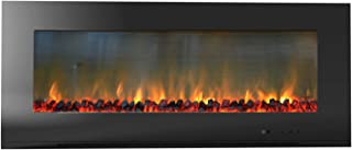 Cambridge Metropolitan 56 In. Wall-Mount Electronic Fireplace with Flat Panel and Realistic Logs