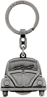 BRISA VW Collection - Volkswagen Classic Beetle Car Bug Key Ring Chain with Removable Coin in Embossed Gift Tin, Gift Idea...