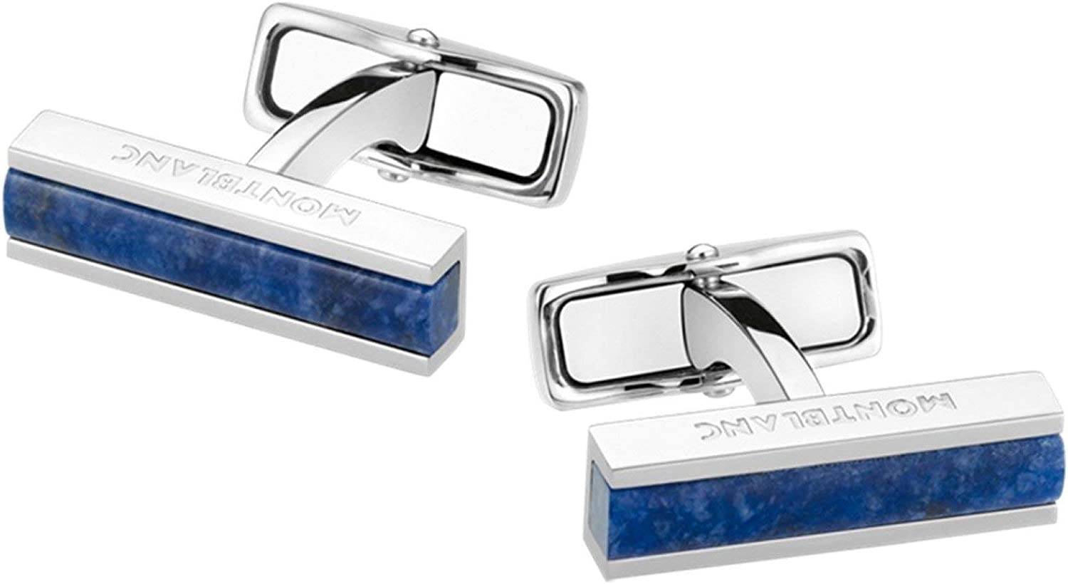 MONTBLANC Deco Steel Cuff Links with Sodalite Inlay 111317