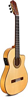Cordoba FCWE Flamenca Thin Body Cutaway, All Solid Woods Acoustic-Electric Nylon String Guitar, Espana Series, with Humidified Hardshell Case