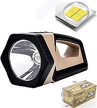 Upgraded P50 Portable Lamp, USB Rechargeable Strong Light Long-Range Flashlight, COB Floodlight Work Light, Red Light Sear...