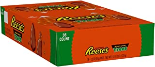 REESE'S Christmas Chocolate Candy, Peanut Butter Trees, 1.2 Ounce (Pack of 36)