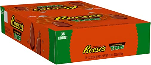 REESE'S Peanut Butter Trees for Holiday Season, Festive Christmas Chocolate Candy for Parties, Gift Bags and Baskets, 1.2 oz. packs (Pack of 36)