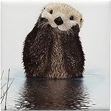 CafePress - Bashful Sea Otter - Tile Coaster, Drink Coaster, Small Trivet