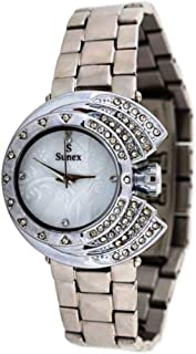 Sunex Women's Silver Dial Stainless Steel Band Watch, S6828SW