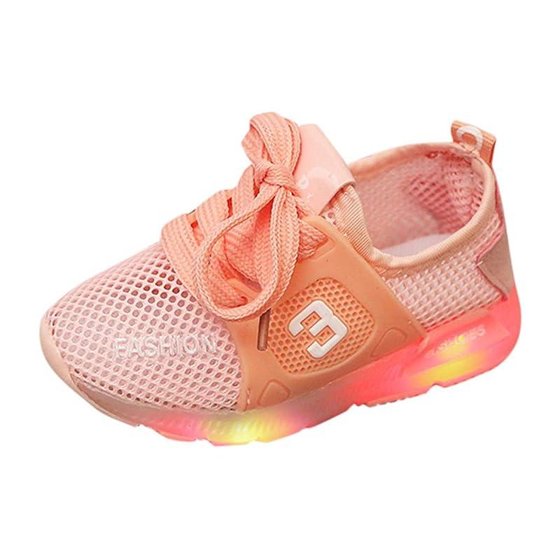 副群衆コンドーム子供靴 Yolaird-Kids 子供用の靴 LEDライト 発光性 スニーカー メッシュ スポーツ用シューズ 軽量 防臭 ライトシューズ 通気性いい 滑り止め カジュアルシューズ 耐磨 携帯便利 ランニングシューズ 通学靴