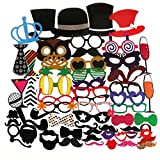 Tinksky Photo Booth Props 60pcs Kit for Wedding Party...