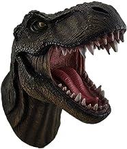 DWK Snarling Huge Tyrannosaurus Rex - Wall Mounted 17 Inch Dinosaur Head Sculpture - HD44637