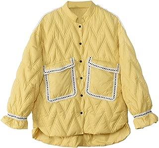 CWSY Women's Fashion Lightweight Down Jacket, Short Loose White Duck Down Jacket