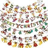 JTMIX クリスマス 飾り付け 7種類セット クリスマスガーランド 可愛い ガーランド 靴下 ツリー 飾り デコレーション クリスマス吊り旗 吊り旗ぶら下げバナー クリスマス 飾り 旗バナー メリークリスマス吊り紙 サンタクロース クリスマスツリーガーデンフラグ クリスマスの長い吊り紙 カラフルな吊り紙 ガーランド 装飾 ぶら下げ 居酒屋 天井飾り 壁飾り 看板 ドア窓ぶら下げ Merry Christmas メリークリスマス サンタクロースバナー クリスマスパーティーの休日 お祭りの環境 窓壁装飾用品スクロールフラグ 窓 ドア 壁 オフィス 家 パーテイー小物 オーナメント(7本セット)