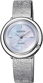 Citizen Eco-Drive Diamond Ambiluna Women's Solar Powered Wrist watch, stainless steel Bracelet with Mother of Pearl Dial D...