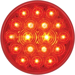 "GG Grand General 76452 Fleet Red 4"" Round 18-LED Stop/Turn/Tail Sealed Light"