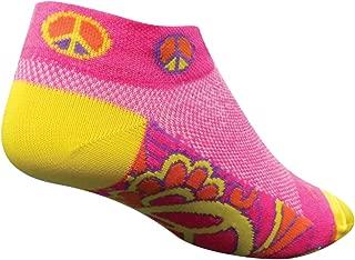 SockGuy Women's 1in Groovy Ladies Peace Cycling/Running Socks