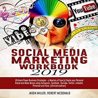 Social Media Marketing Workbook 2019 audiobook cover art