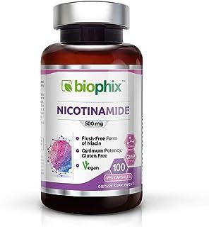 Sponsored Ad - B3 Nicotinamide 500 mg 100 Vegetarian Capsules - Natural Flush-Free Vitamin Formula | Gluten-Free Nicotinic...