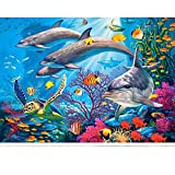 Rompecabezas para Adultos Rompecabezas de 1000 Piezas - Mundo Submarino, Juguete Educativo Intelectual de descompresión Divertido Juego Familiar para niños Adultos XX-5004