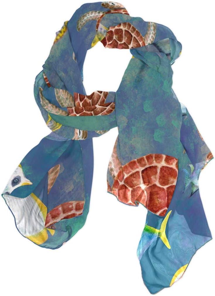 TropicalLife CFAUIRY Women Scarf Scarves Ocean Animal Fashion Soft Lightweight Long Large Wrap Shawls