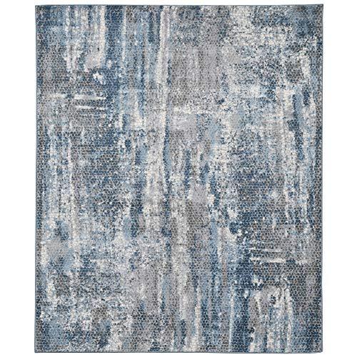 Cairo Teppich, abstrakt, Blau
