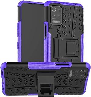 N\B Capa para LG K52, capa híbrida para LG K52, proteção de camada dupla à prova de choque, capa híbrida resistente com su...