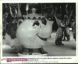 Vintage Photos 1994 Press Photo Walt Disney's World on Ice- Beauty and The Beast, Mrs. Potts