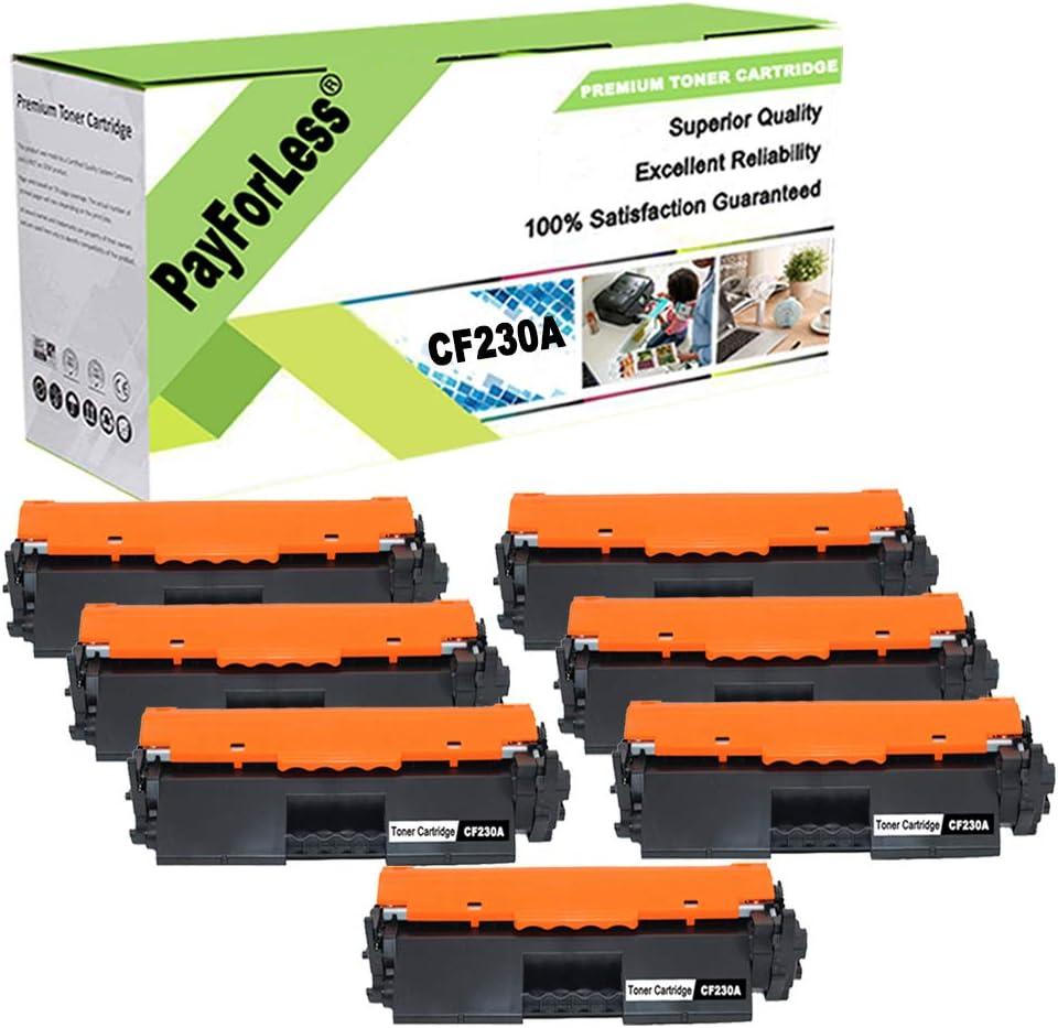 PayForLess CF230A 30A Black Toner Cartridge 4PK Replacement for HP Laserjet M203d M203dn M203dw HP Laserjet Pro MFP M227fdn M227fdw M227sdn with Chip