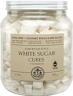 India Tree White European-Style Sugar Cubes, 2.2 Pound