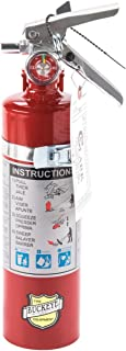 Buckeye 13315 ABC Multipurpose Dry Chemical Hand Held Fire Extinguisher with Aluminum Valve and Vehicle Bracket, 2.5 lbs A...