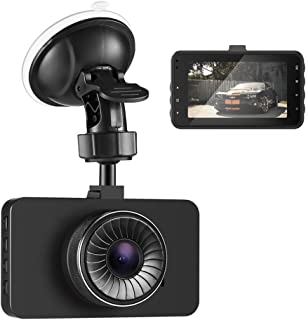 AUTOLOVER Dash Cam 1080P DVR Car Driving Recorder with 3 Inch IPS Screen 140° Wide Angle, WDR, G-Sensor, Loop Recording, Super Night Vision (Black)