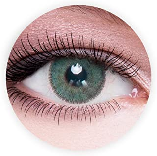 Dahab Lumrirere Green Contact Lenses, Unisex Dahab Cosmetic Contact Lenses, 9 Months Disposable- Eye Enlargement Collectio...