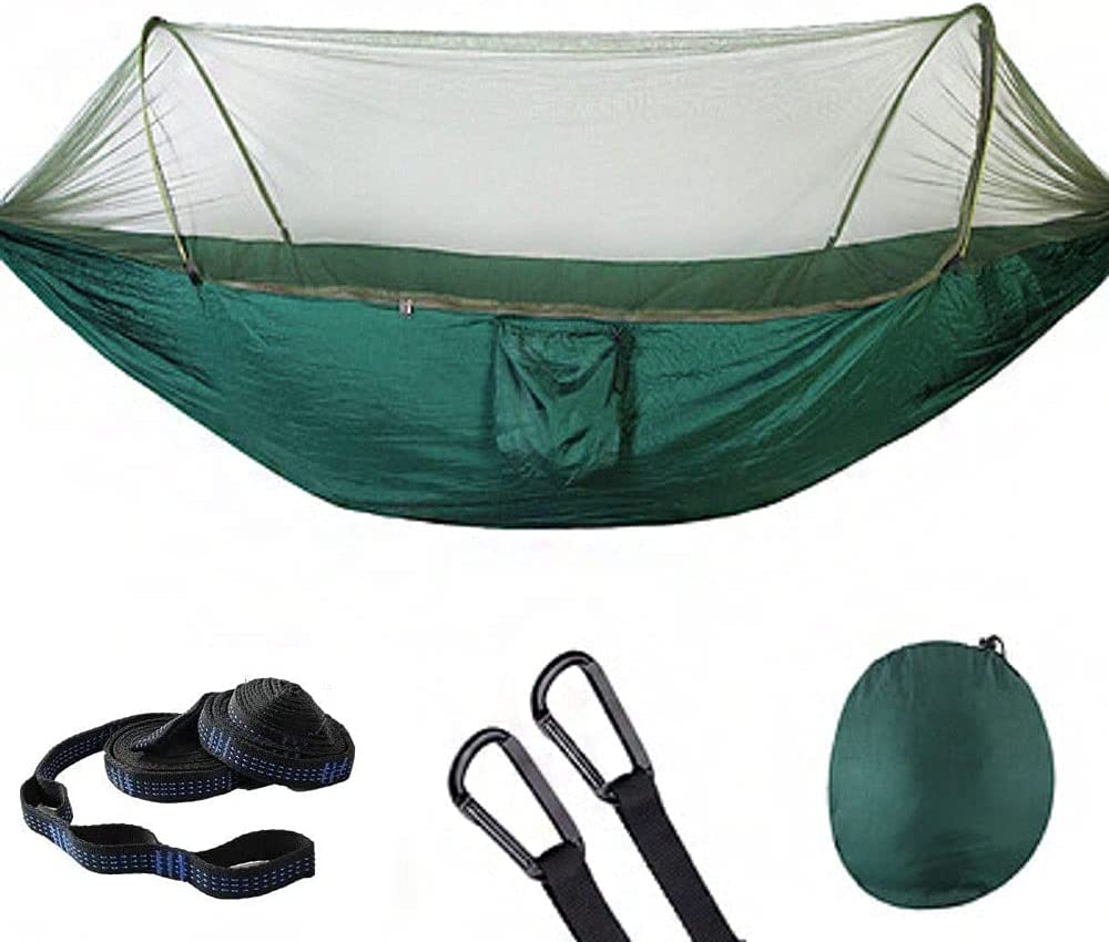 Single Double Camping Hammock with Net New color Outdoor Portable Tree