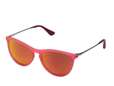 Ray-Ban Junior RJ9060S Izzy 50mm (Youth) (Fuxia Fluorescent Transparent Rubber) Fashion Sunglasses