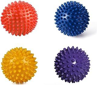 Massage Balls Portable Spiky Fasciitis Point Foot Pain Relief - Deep Tissue Massage Therapist (Pack of 4)