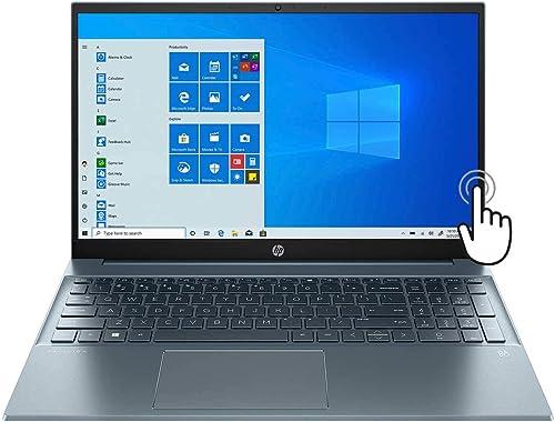 "discount HP High Performance popular Pavilion 15 15.6"" FHD Touchscreen Laptop, 11th Gen Core i7-1165G7, WiFi-6, Backlit Keyboard, USB-C, HDMI, Iris Xe Graphics, online 16GB RAM, 512GB PCIe SSD, Win 10, Fog Blue online sale"