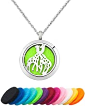 Moonlight Collection African Jungle Animal Pendants Safari Jewelry Stainless Steel Diffuser Necklace