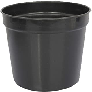First Smart Plastic Nursery Pot (7-inch, Black, Pack of 10)