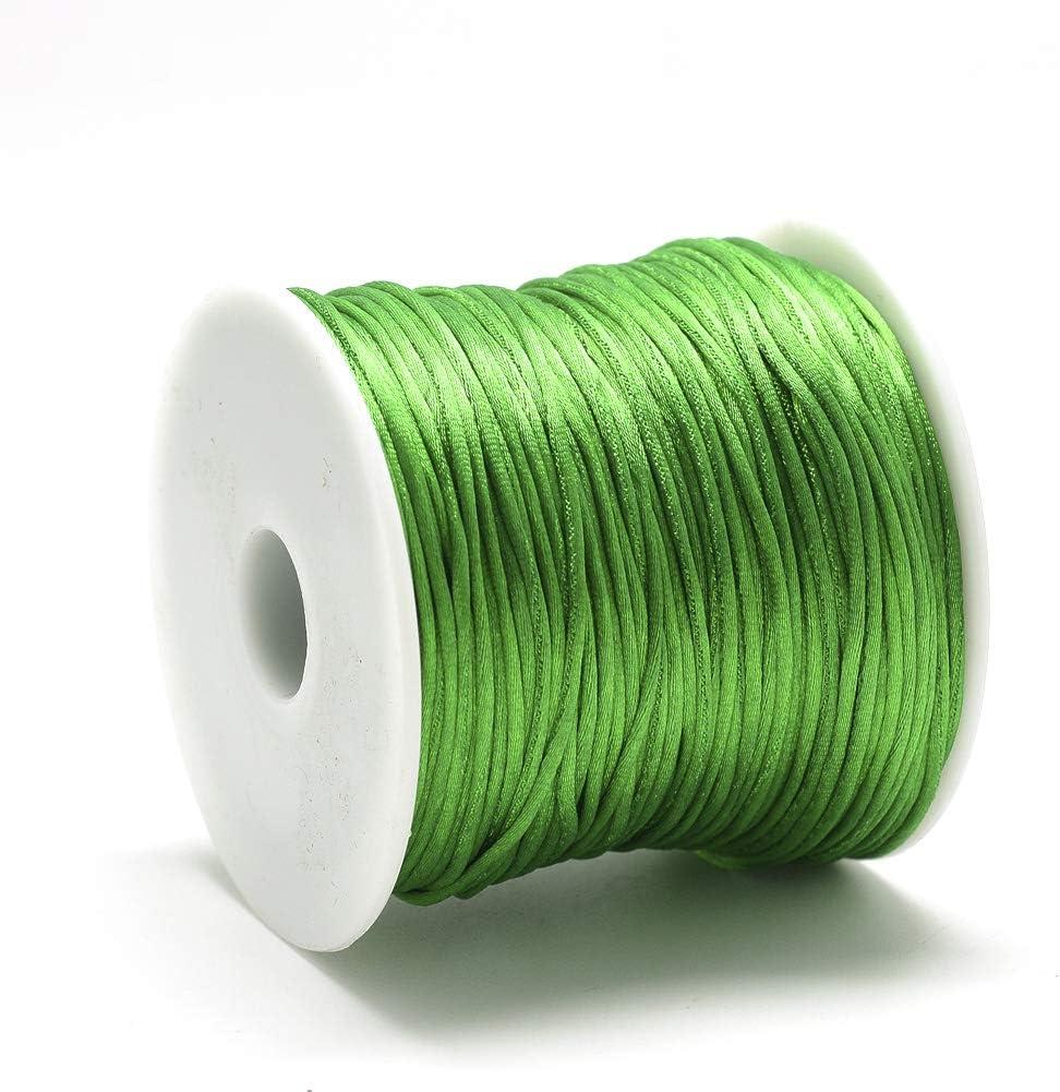 Pandahall 82 Yard//75 M 1mm Rattail Satin Cord Nylon Trim Silk Thread Beading String for Braided Chinese Knot Kumihimo Macrame Friendship Bracelets Jewelry Making Red
