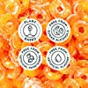 SmartSweets Peach Rings, Candy with Low Sugar (3g), Low Calorie, Plant-Based, Free From Sugar Alcohols, No Artificial Colors or Sweeteners, Pack of 12, New Juicy Recipe #5