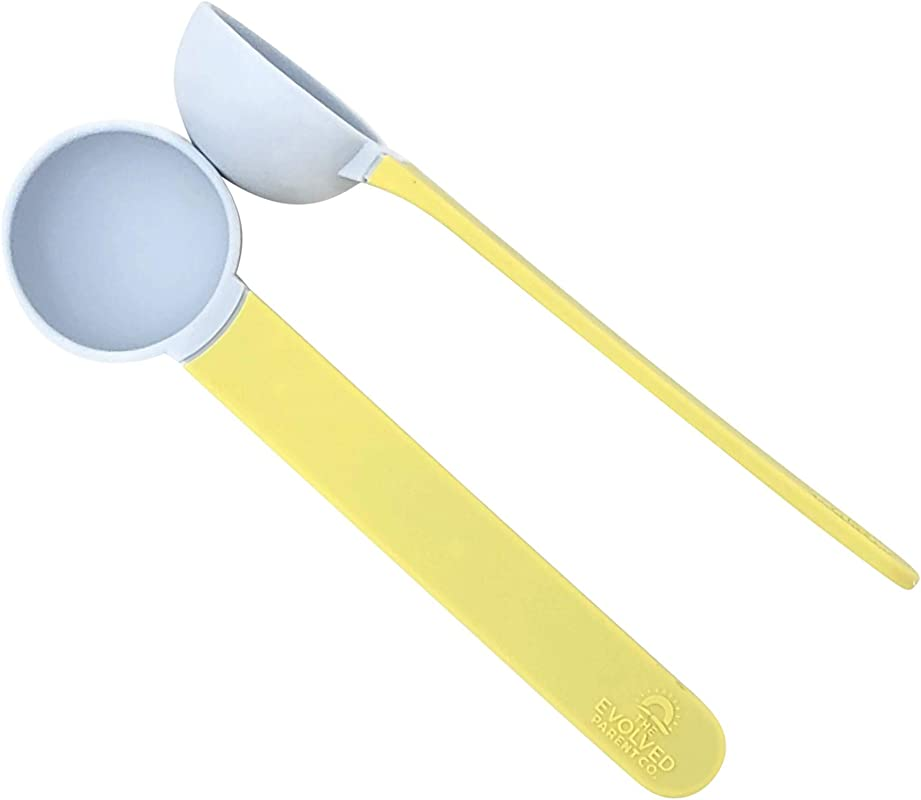 The Super Spoon Toddler And Child Soft Silicone Spoon For Self Feeding Great For Soft Foods Such As Soup Cereal Yogurt And Purees FDA Food Grade Silicone BPA Free Less Mess 2 Pack